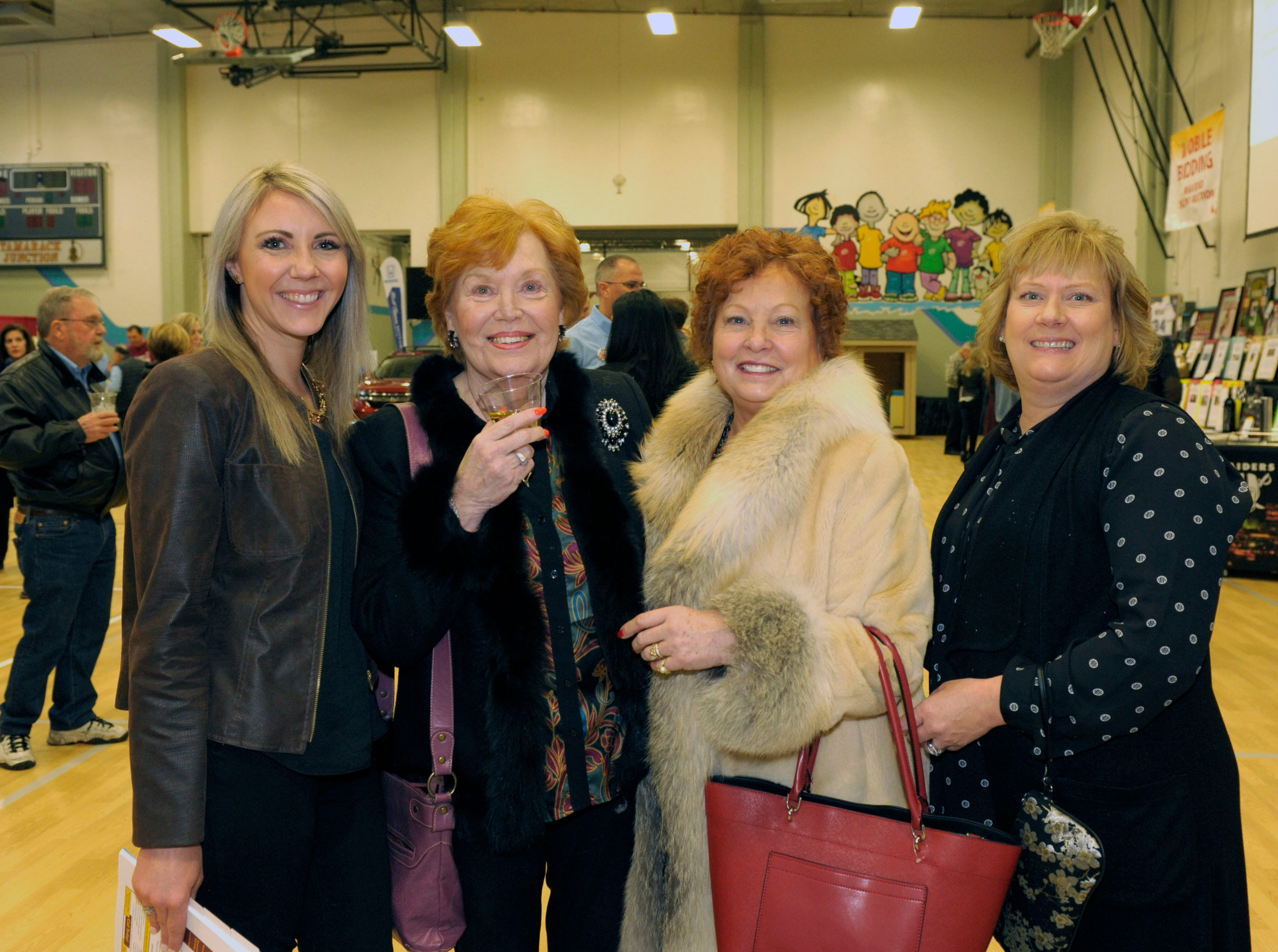Katie Silva, Becki Brooke, Marsha Berkbigler and Dian VanderWell attend the 39th Annual Jack T. Reviglio Cioppino Feed and Auction at the Boys & Girls Club of Truckee Meadows Sat., Feb. 23, 2019. Photos by Lisa J. Tolda/Special to the RGJ.