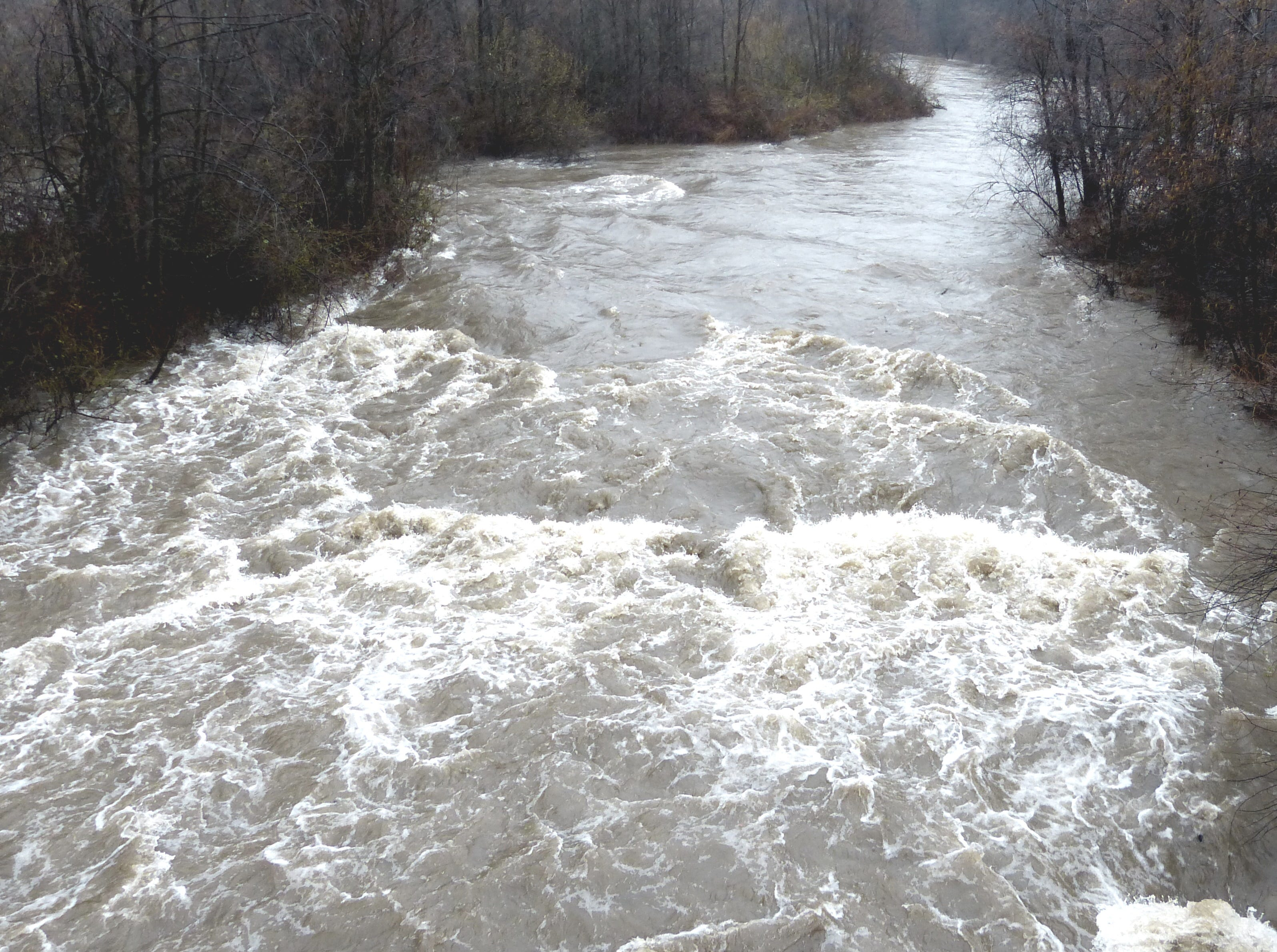 Clear Creek below Whiskeytown Dam was running high and fast on Tuesday.
