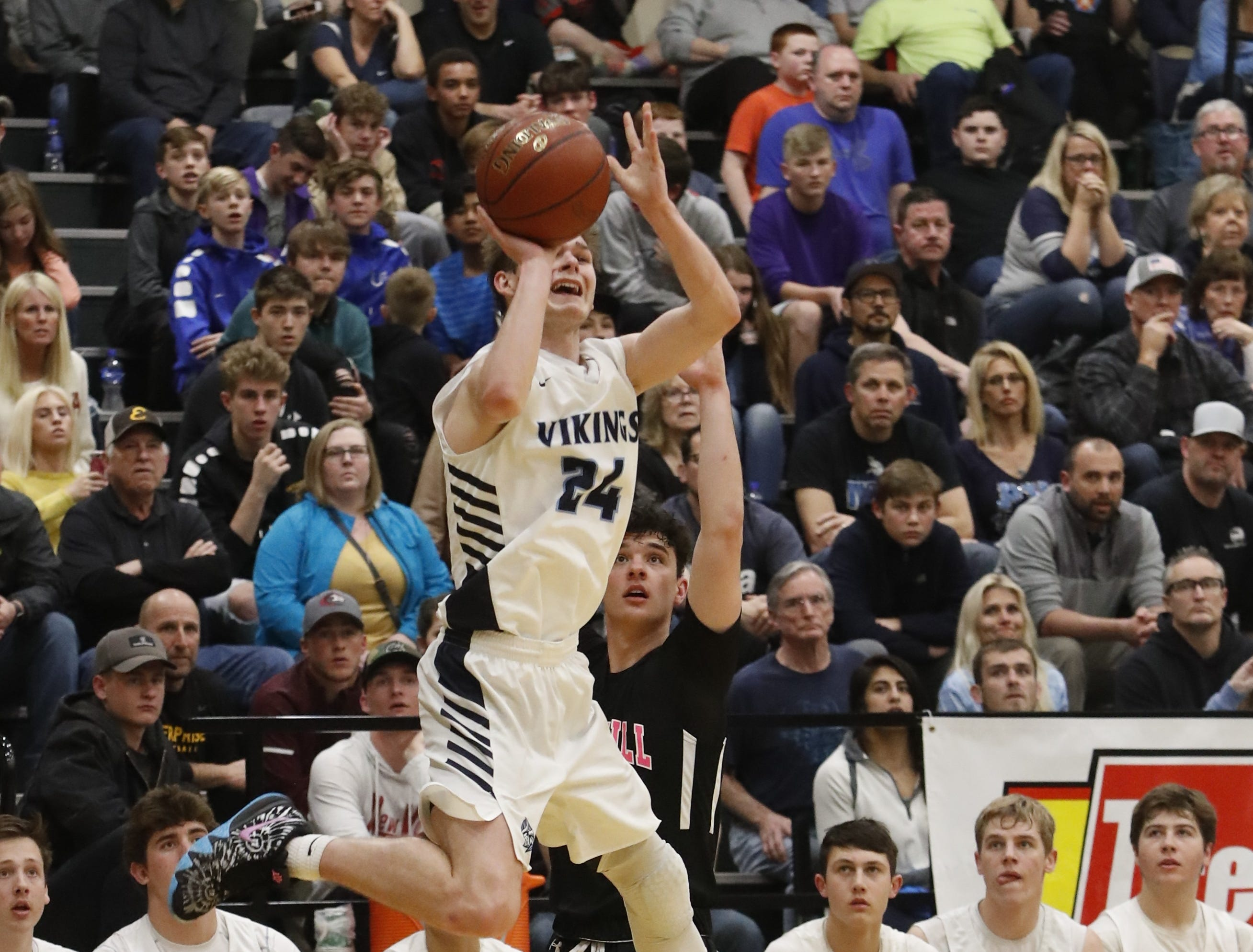 Pleasant Valley beat Foothill, 43-41, in the Division III Northern Section championship at Shasta College on Saturday, Feb. 23.