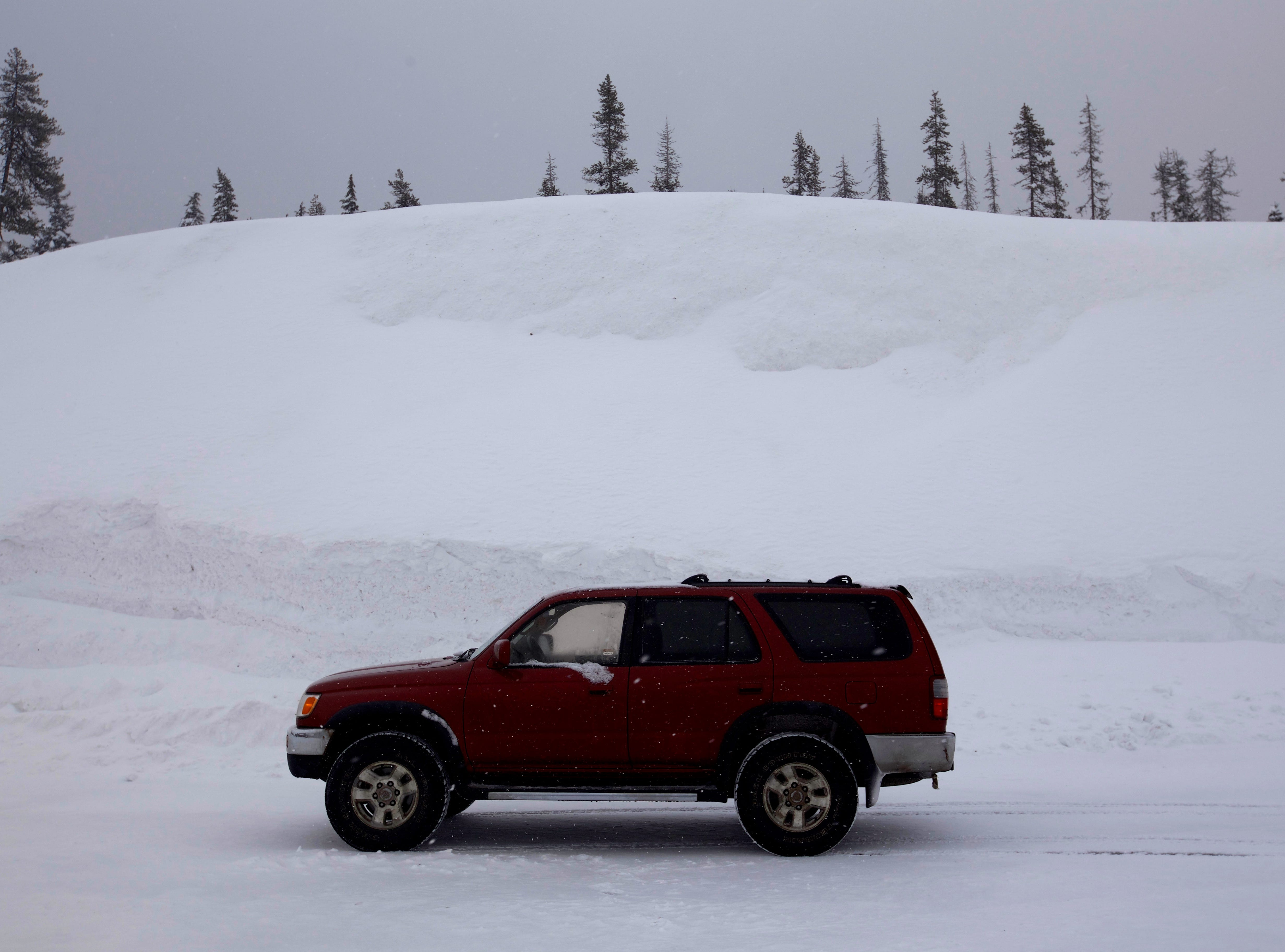 Snow is high at Santiam Pass and Hoodoo Ski Area.