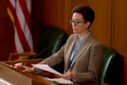 Speaker Tina Kotek, D-Portland, leads the House of Representatives in February.