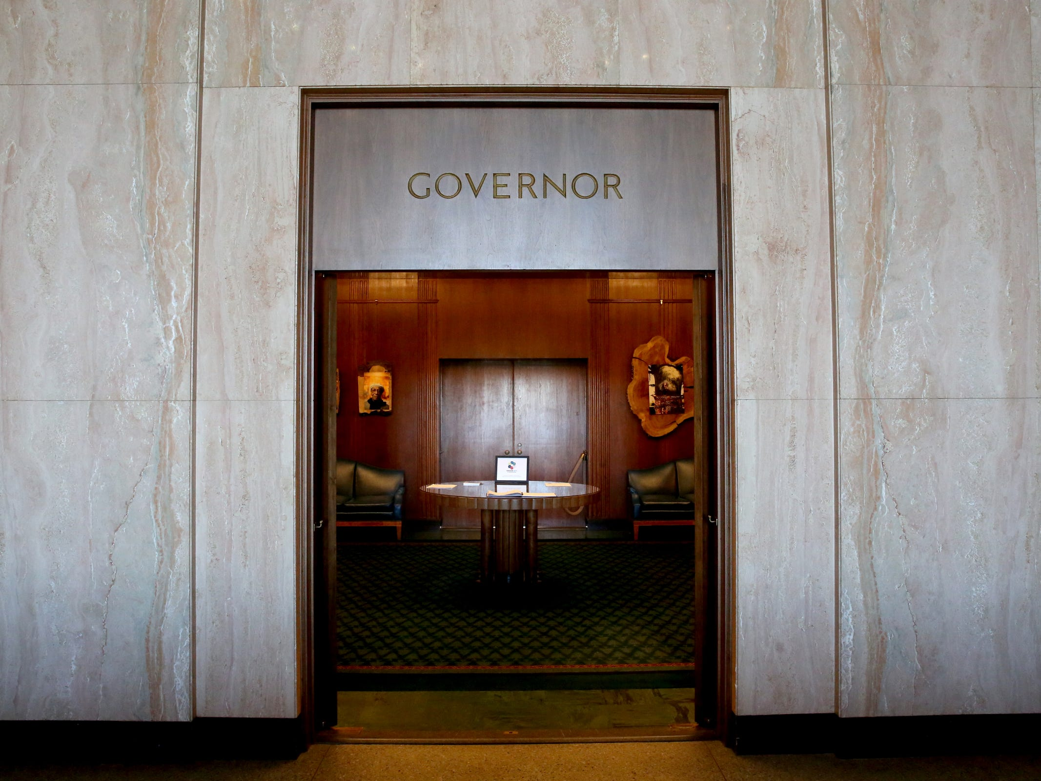 The Governor's Office at the Oregon State Capitol in Salem on Tuesday, Feb. 26, 2019.