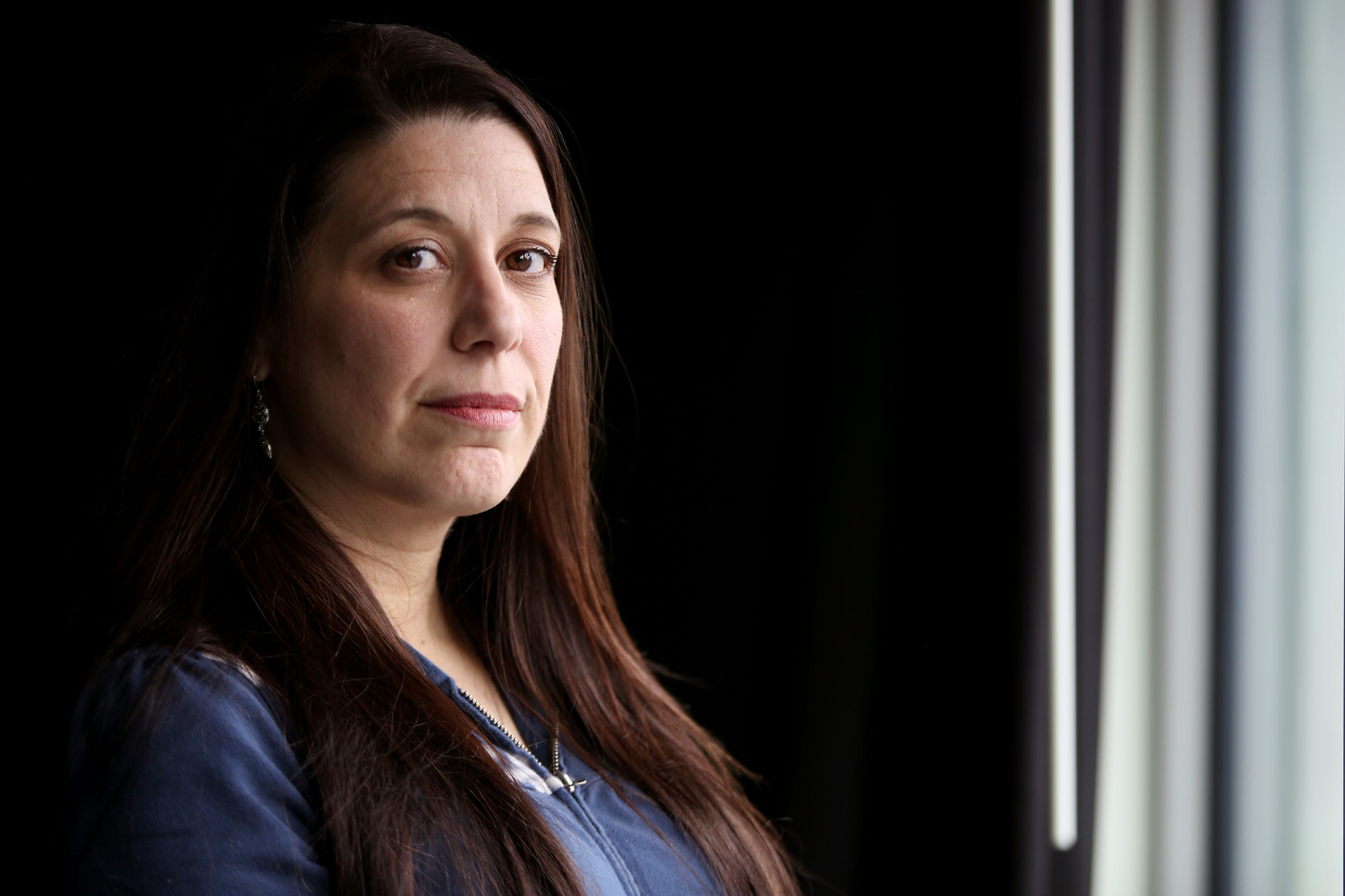 Melissa Vitellaro, of Portland, and other former inmates have filed five lawsuits accusing Coffee Creek Correctional Facility of allowing sex abuse, following a pattern of sexual misconduct at the women's facility. Photographed at the Statesman Journal in Salem on Tuesday, Feb. 26, 2019.