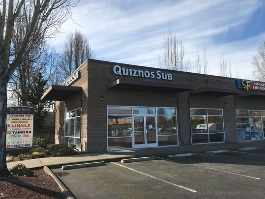 Quiznos Sub at 5133 River Rd N in Keizer, pictured here on Feb. 26, 2019, is closed. Though the signage and some of the decor remains, the storefront has been stripped of its seating.
