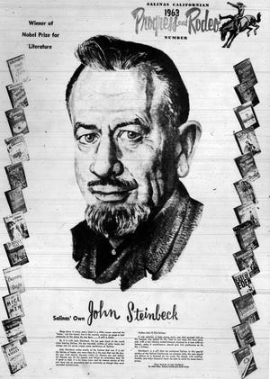 The 1963 cover art commemorating John Steinbeck in the Salinas Californian's Rodeo Edition.