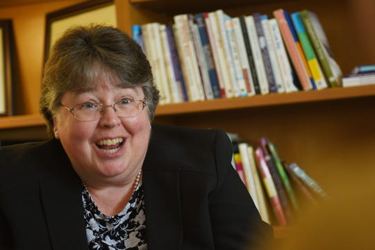 Laurie Daily, Augustana University's education department chair, talks about the new special education teaching program Tuesday, Feb. 26, at the university.