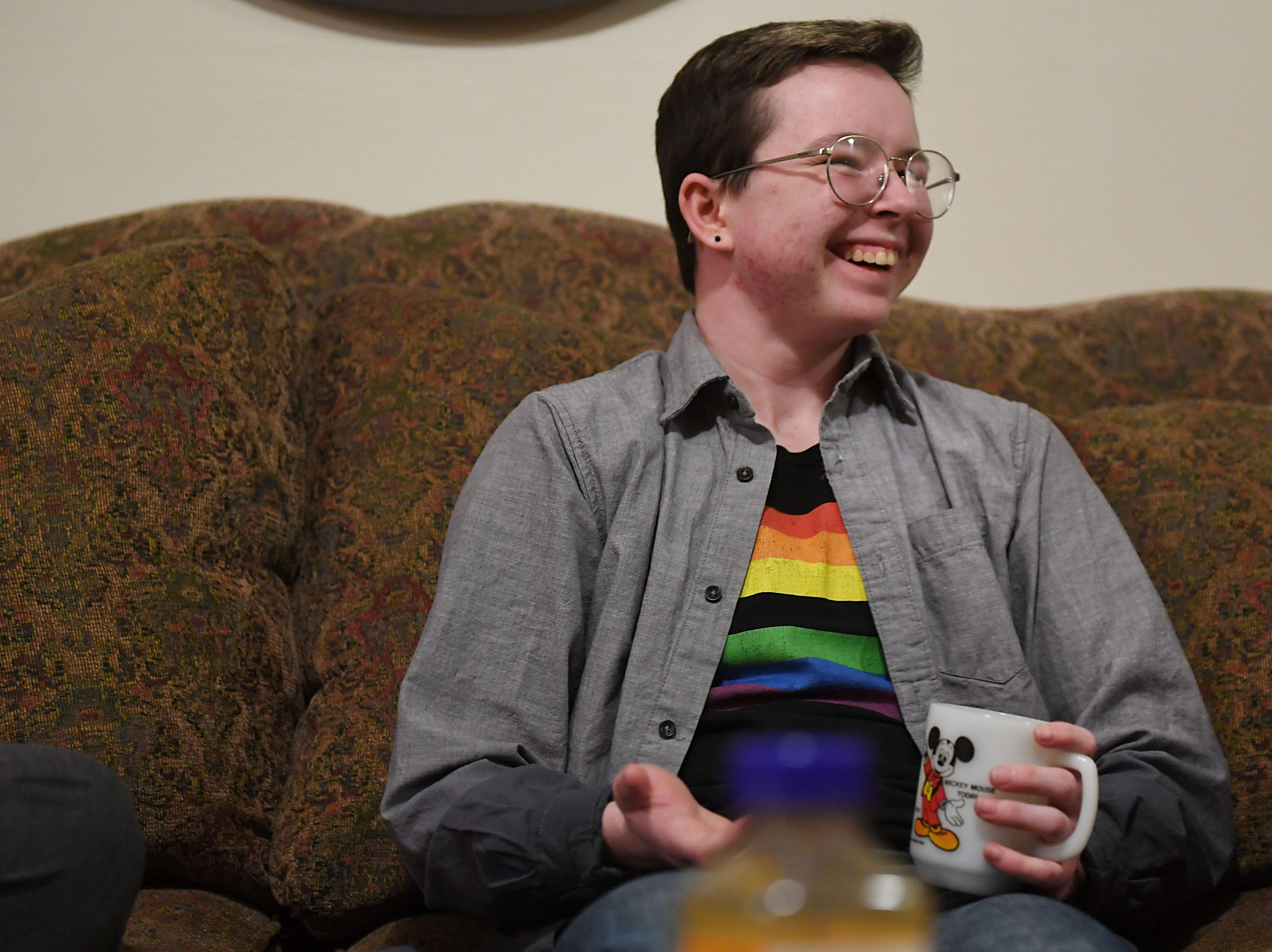 Oliver Dickman talks on Monday, Feb. 25, in  Yankton about the misconceptions others have with transgender people.