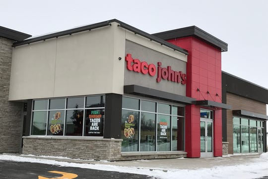 The new Taco John's restaurant the corner of Mable Avenue and East 10th Street replaces a store located across the street.