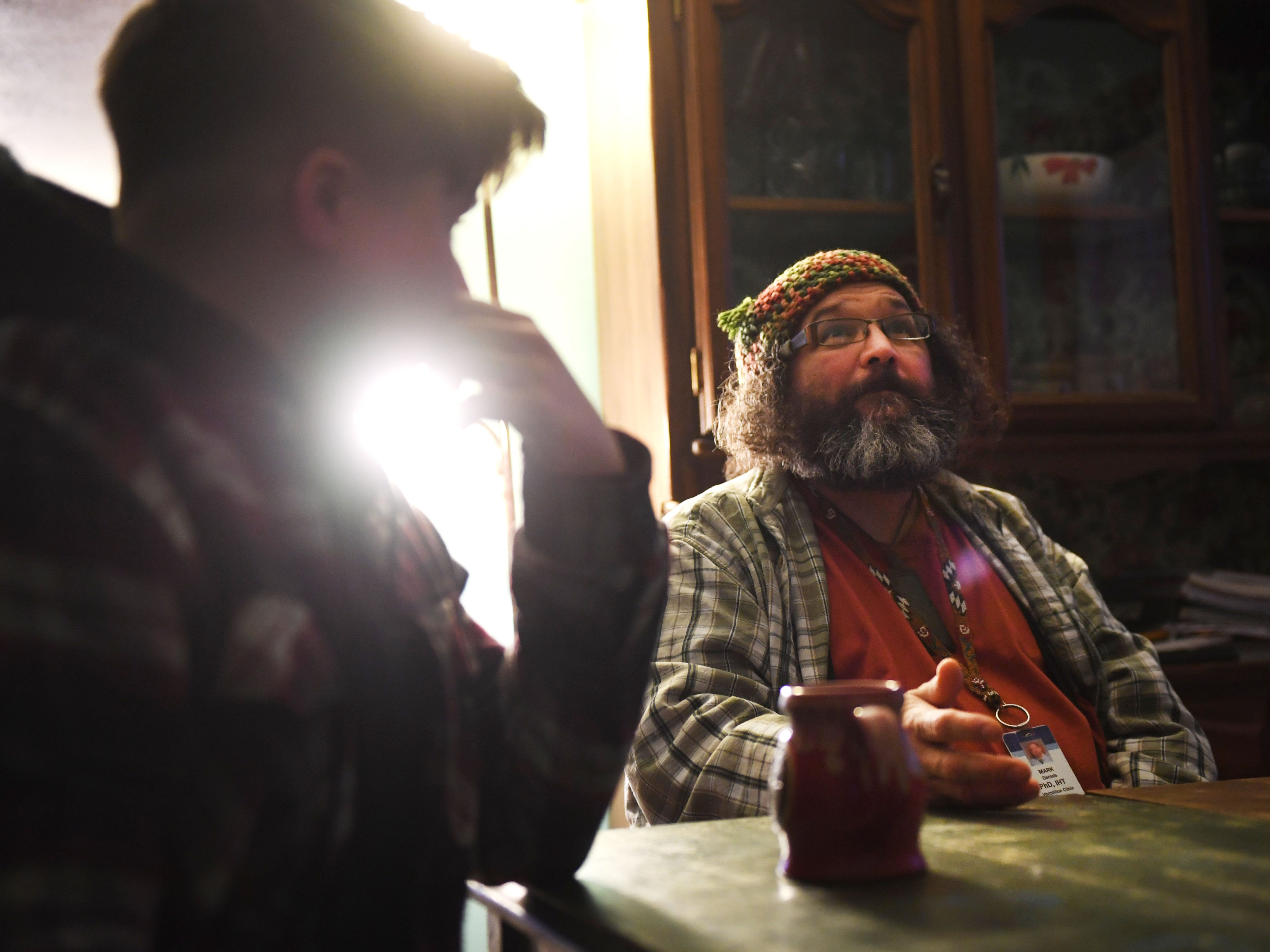 Mark Daniels, Dylan Daniels' dad, talks on Monday, Feb. 25, in Vermillion about how he just wants his kids to live fulfilled lives no matter what that entails.