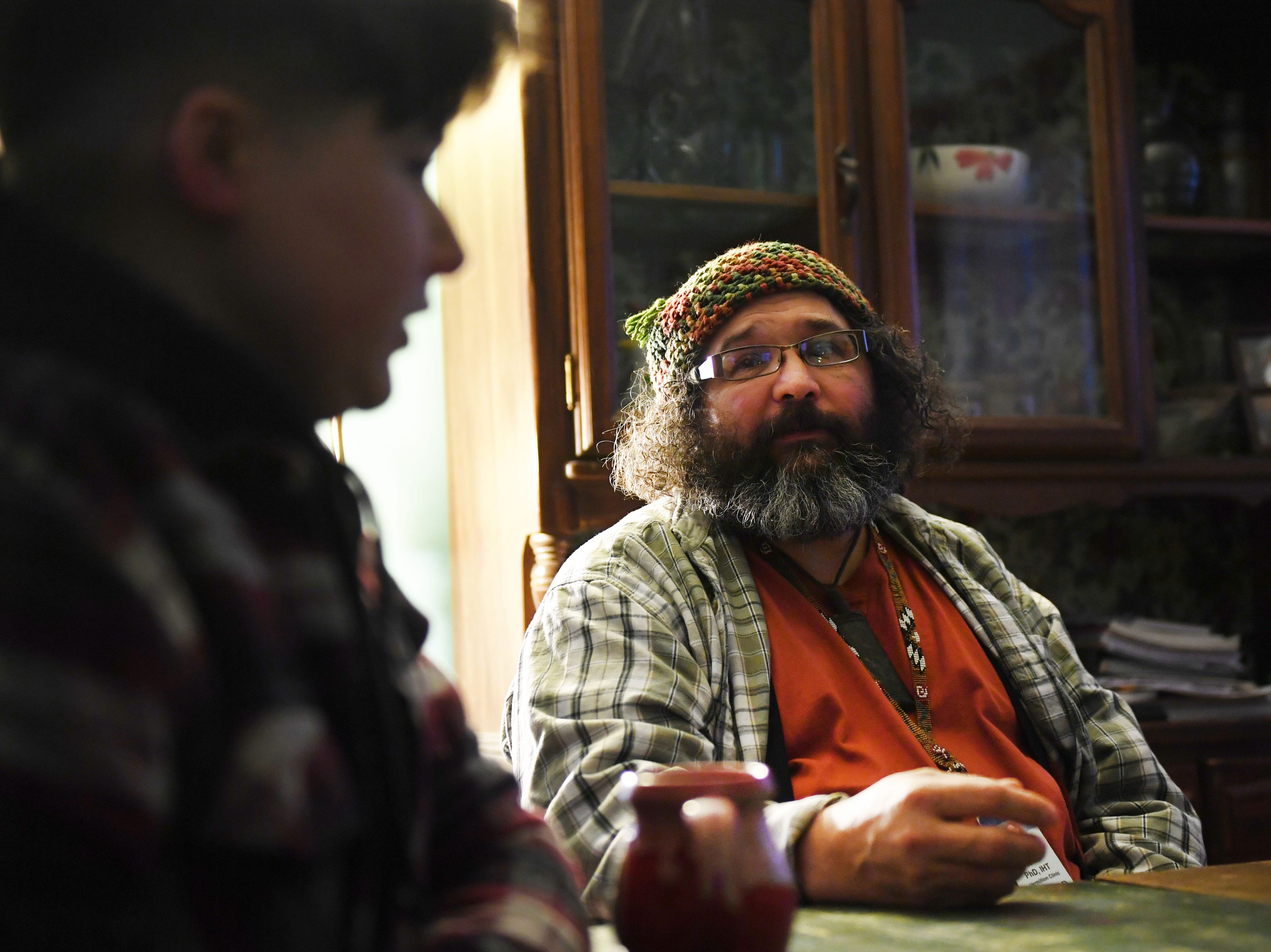 Mark Daniels, Dylan Daniels' dad, talks about how he just wants his kids to live fulfilled lives no matter what that entails Monday, Feb. 25, in Vermillion.