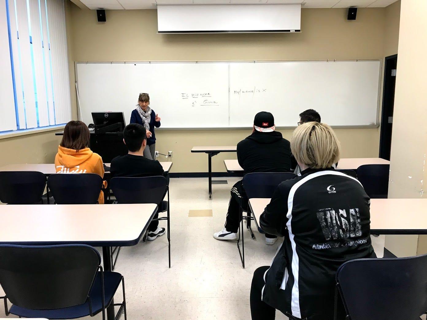 Giulia Ruggiero teaches Italian.
