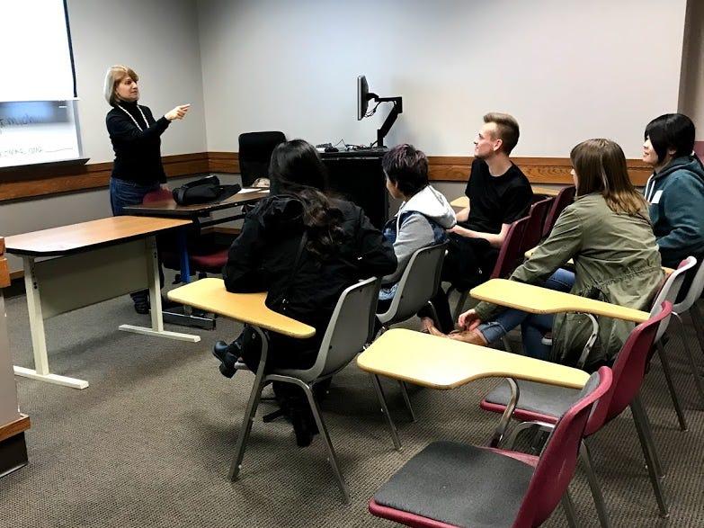 Judith Martin teaches German.