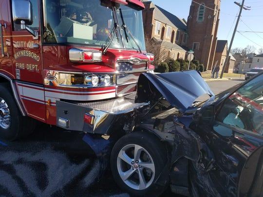 Waynesboro Police Department investigated a 7-vehicle crash Monday, Feb. 25, 2019 that sent two the hospital.