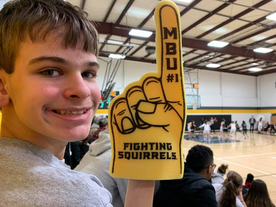 Eric Potter has become one of Mary Baldwin basketball's biggest fans this season.