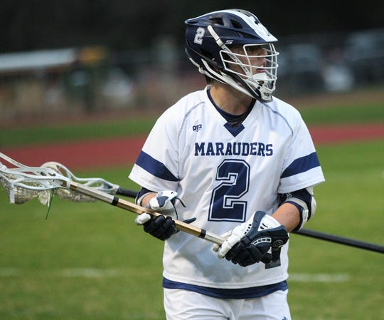 Maclay junior Sam Chase had two goals and eight assists as Maclay's lacrosse team beat Lincoln on Feb. 19, 2019.