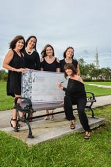 Roseann Gregory Cancer Foundation Board of Directors, from left,  Rita Markowitz, Tammy Serrano, Danielle Visconte, Darlene McNeill and Mary Freitas, seated.