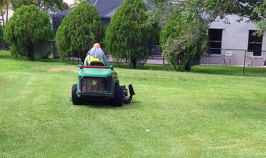 Some homeowner and landscape maintenance workers think mowing with the safety shield on the grass chute flipped up speeds up the mower. It is a serious mistake and often causes high-speed projectiles such as rocks and broken branches to eject from under the mower. These missiles can break glass windows and cause bodily harm. Operate mowers with all the safety equipment in place and good working order to protect property and people.