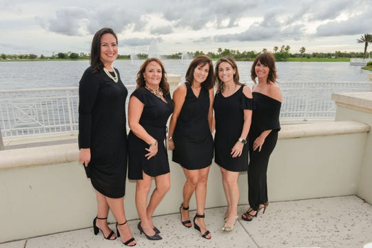 Roseann Gregory Cancer Foundation Board of Directors, from left, Tammy Serrano, Darlene McNeill, Rita Markowitz, Danielle Visconte and Mary Freitas.