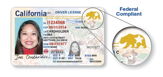 One option for an updated California driver's license is REAL ID. Drivers can use it to board a domestic flight or enter a secure federal facility that requires identification both now and after Oct. 1, 2020. A bear and star identifies federal compliant REAL ID driver licenses and identification cards.