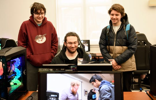 Stockton University debuted its new Esports facility on Tuesday, Feb. 26, 2019. The room boasts 15 state-of-the-art machines designed for competitive teams to play Hearthstone, Rocket League, Apex Legends and more.