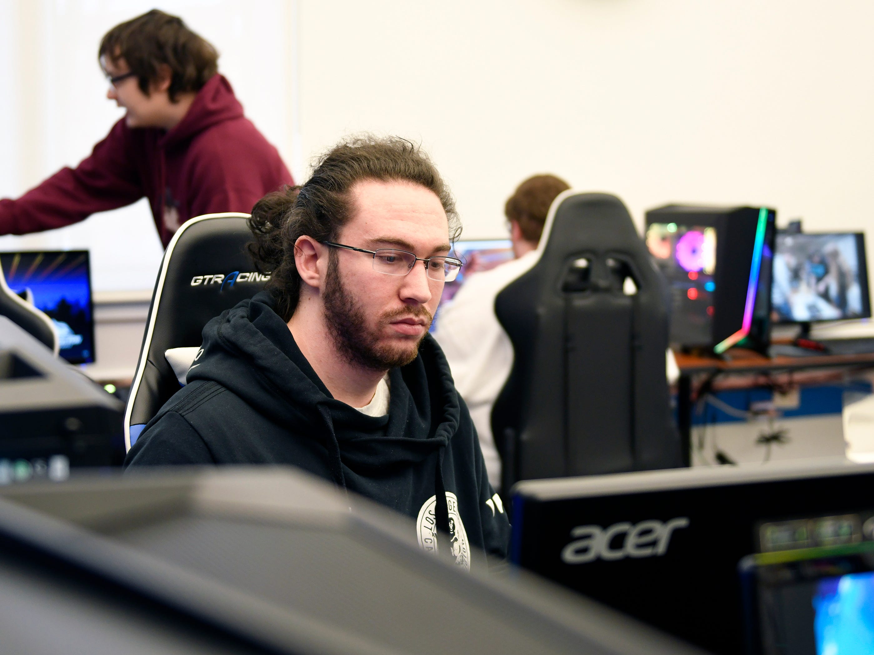 Jacob Hoppenfeld, a Stockton University student from Voorhees, N.J., is on the school's new Esports team. More than 50 students are currently competing.