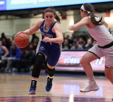 Briarcliff beat Dobbs Ferry 58-54 in a Section 1 Class B semifinal at the Westchester County Center Feb. 25, 2019.