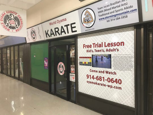 Mitsugu Sakai's World Oyama Karate studio on the second floor of the White Plains Mall has been affected by a leaking roof and mold. The mall is scheduled for demolition, perhaps as early as this summer, but no permit for demolition has been issued and tenants have not been officially notified when they'll have to vacate the premises. Sakai has been in the mall for more than 15 years.