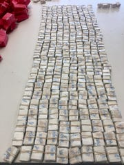 Maryland State Police seized drugs with an estimated street value of $1 million.