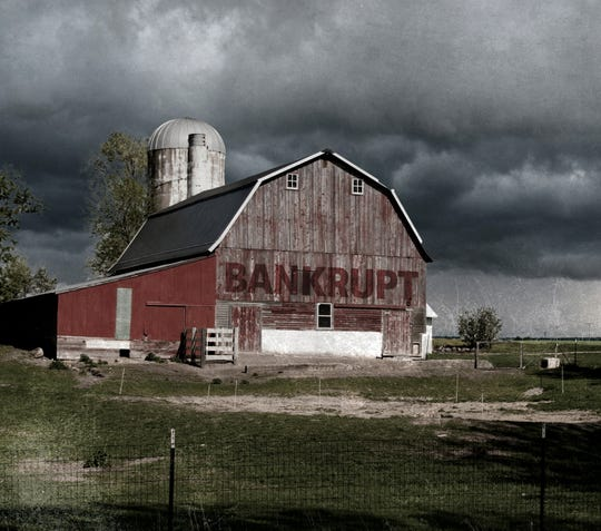 Many farmers are facing a situation where their local banks are no longer willing to give them an operating loan, making filing for bankruptcy a real possibility.