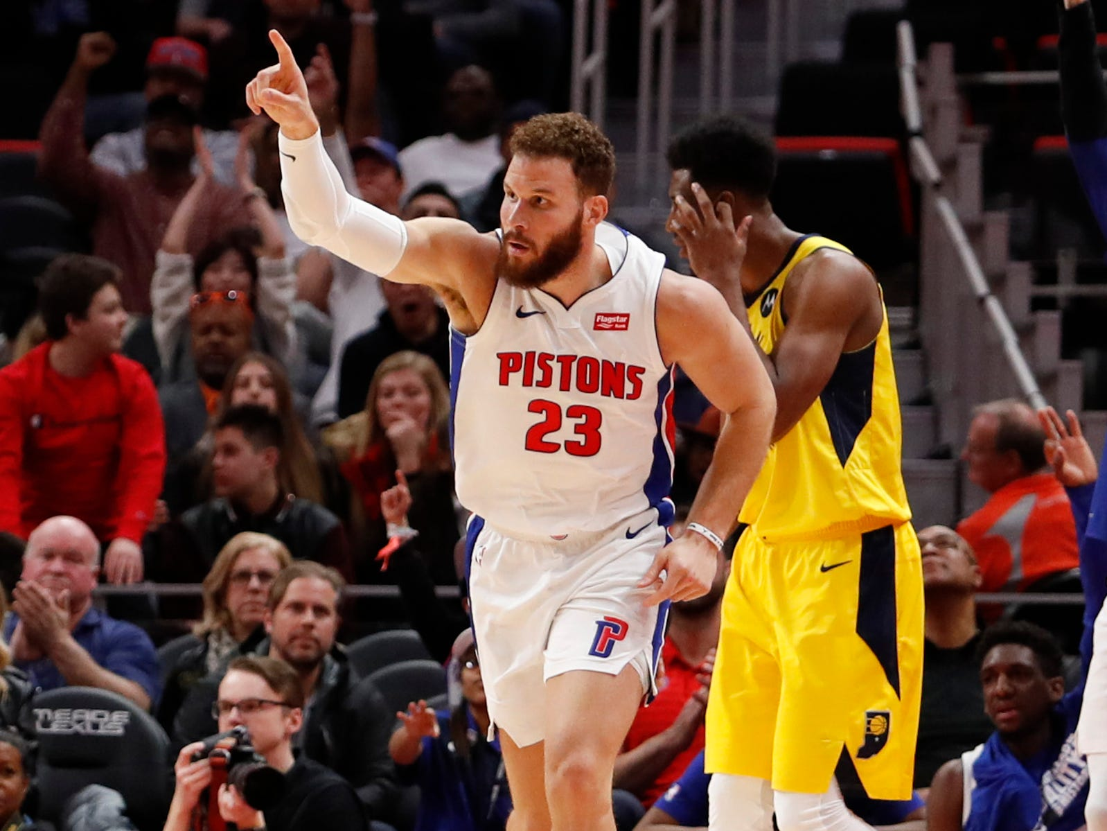 86. Blake Griffin, Pistons (Feb. 25): 20 points, 10 rebounds, 10 assists in 113-109 win over Pacers (second of season).