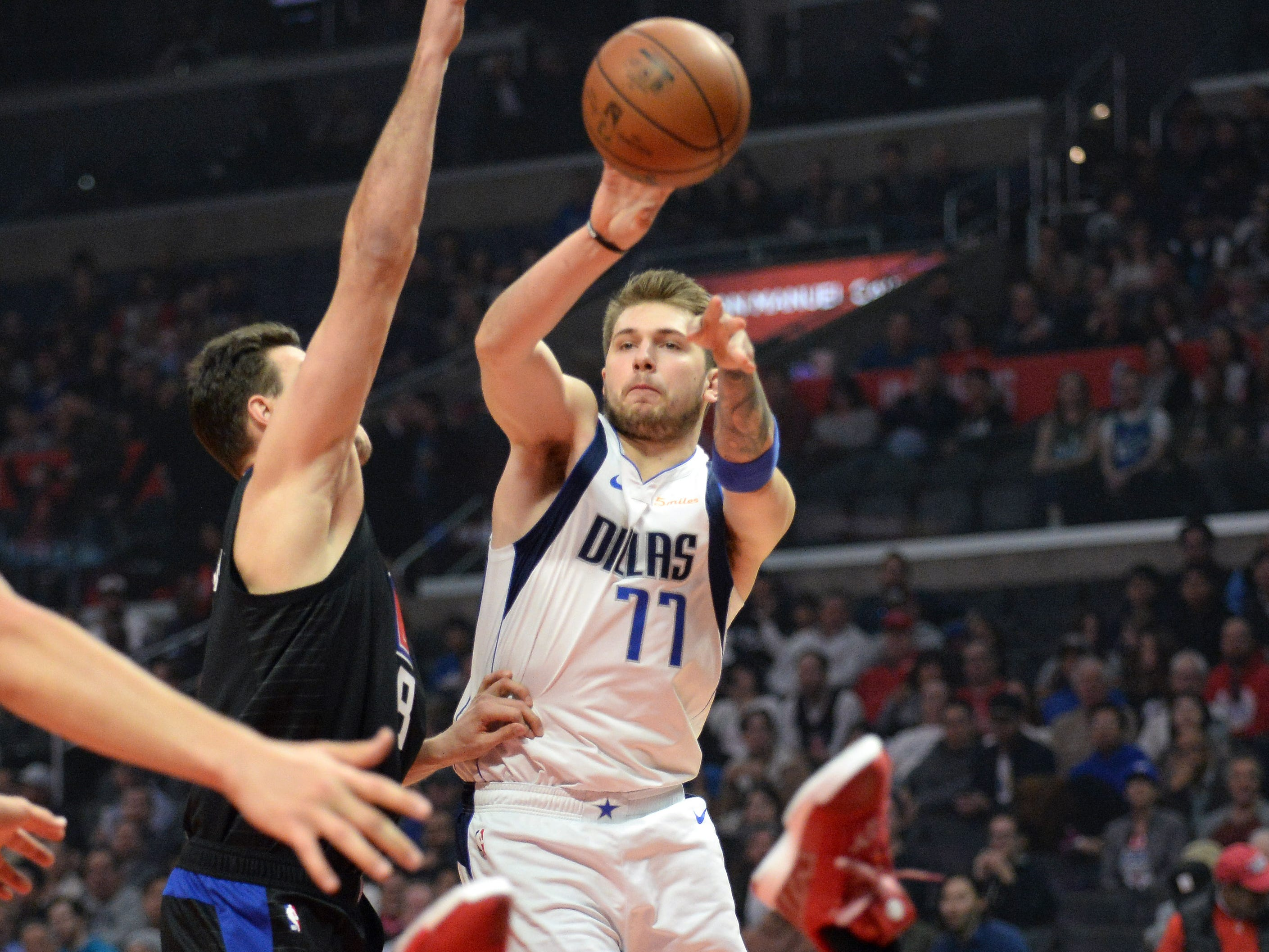 88. Luka Doncic, Mavericks (Feb. 25):28 points, 10 rebounds, 10 assists in 121-112 loss to Clippers (fourth of season).