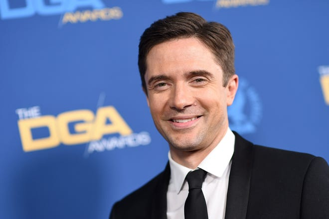 Actor Topher Grace arrives for the 71st Annual Directors Guild Of America (DGA) Awards at the Ray Dolby Ballroom in Hollywood on February 2, 2019. (Photo by Valerie MACON / AFP)VALERIE MACON/AFP/Getty Images ORIG FILE ID: AFP_1CZ3O8