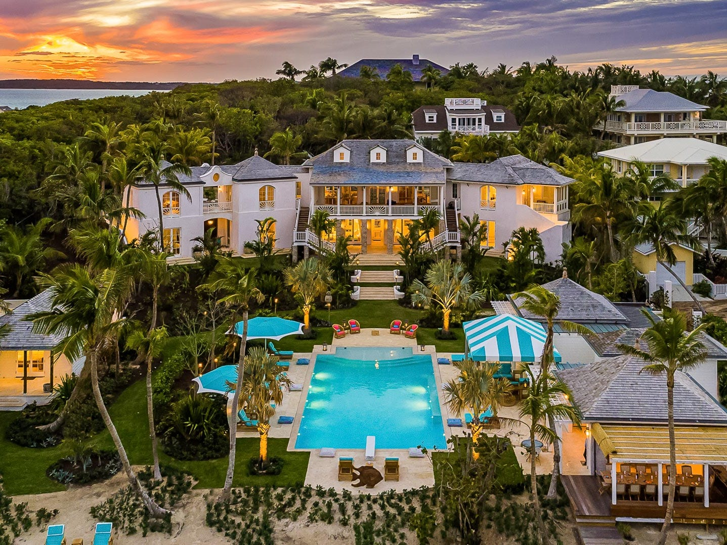 This six-bedroom property on Harbour Island in the Bahamas sleeps 12 and rents for $12,500 - $15,000 a night.