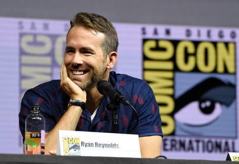 "Ryan Reynolds attends the ""Deadpool 2"" panel on day three of Comic-Con International on Saturday, July 21, 2018, in San Diego. (Photo by Chris Pizzello/Invision/AP) ORG XMIT: CAPM192"