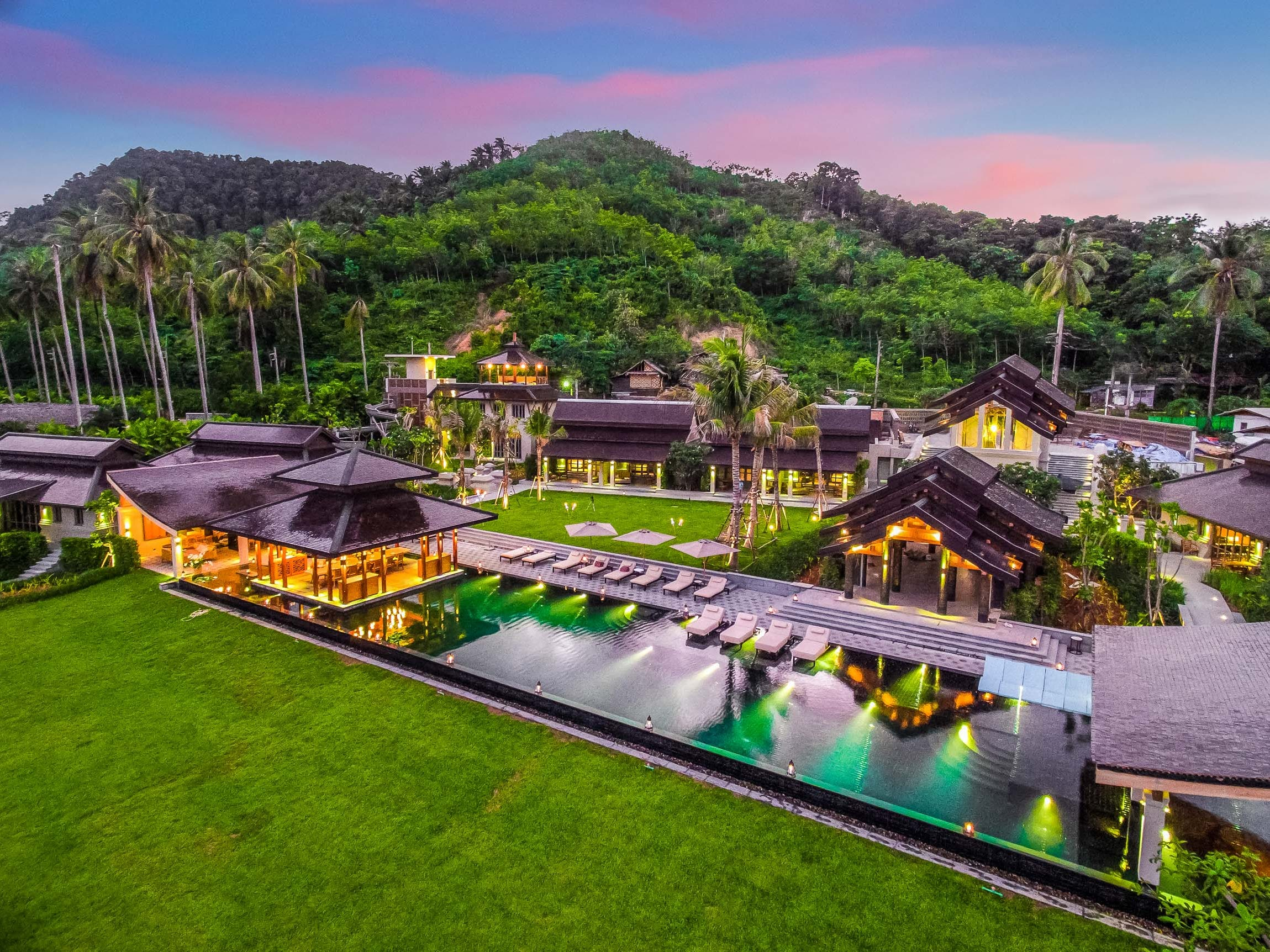 This 10-bedroom property on Ko Yao Yai in Thailand sleeps 20 and rents for $6,636 - $18,888 a night.