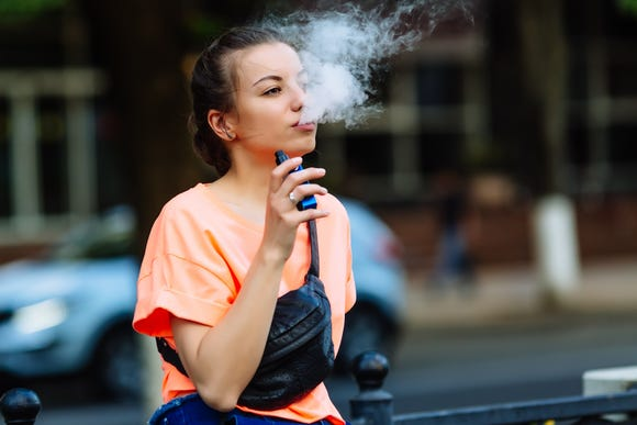 The Centers for Disease Control and Prevention report found 42 percent of American high school students have used an electronic vapor product.