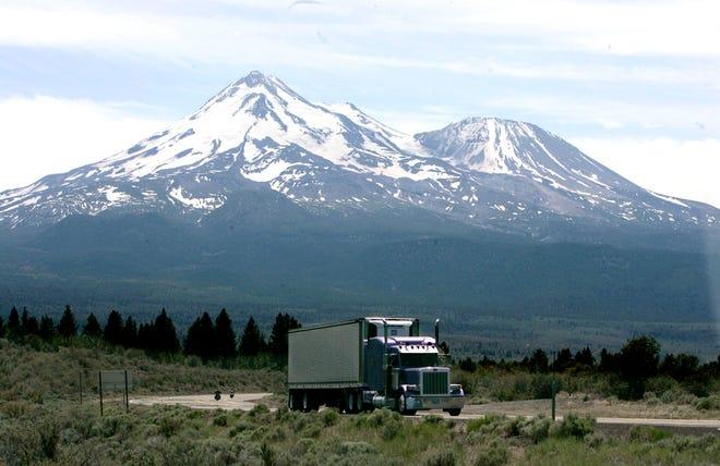 Mount Shasta near Weed, California, on June 19, 2008.