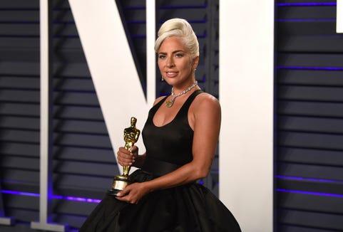 Lady Gaga arrives at the Vanity Fair Oscar Party on Sunday, February 24, 2019.
