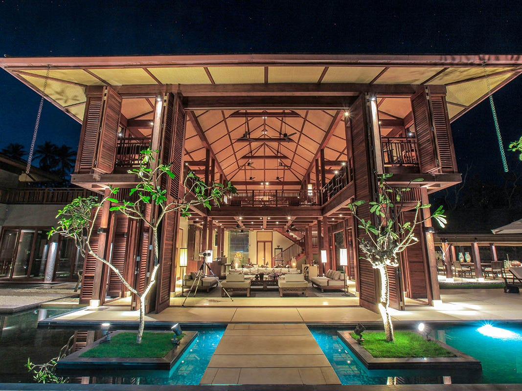 This 15-bedroom property in Colombo, Sri Lanka, sleeps 30 and rents for $9,575 - $18,888 a night.