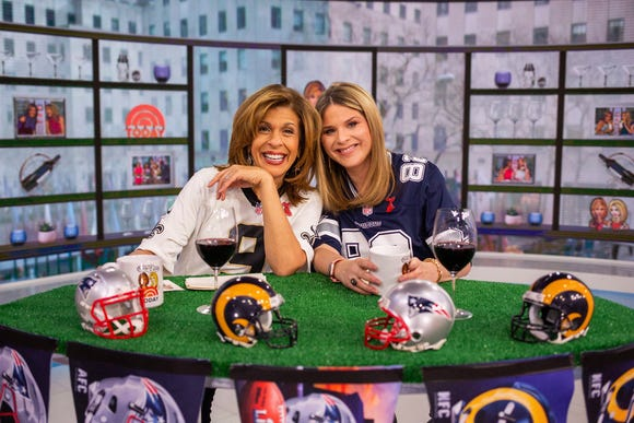 Hoda Kotb and Jenna Bush Hager on Friday, February 1, 2019