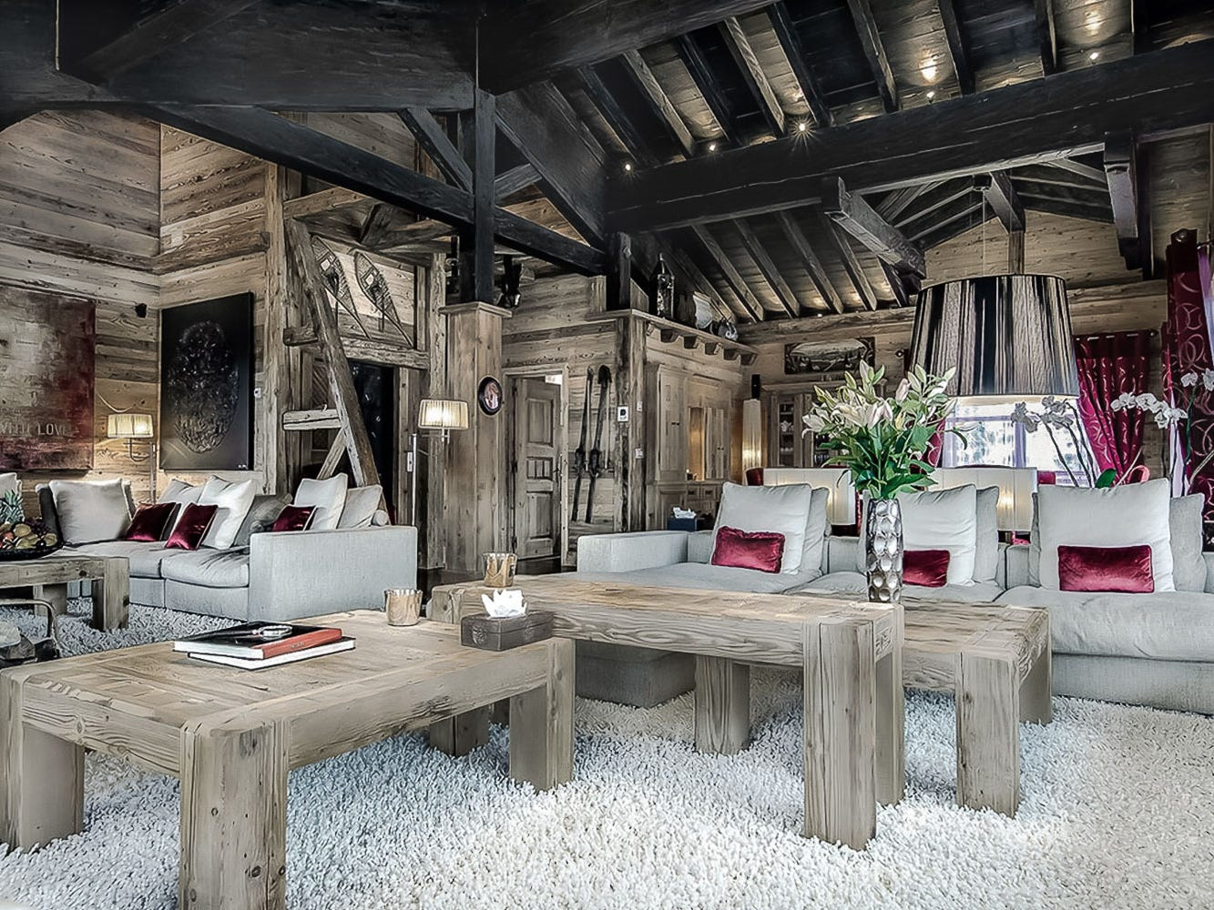This eight-bedroom property in Courchevel, France, sleeps 16 and rents for $18,681 - $41,514 a night.