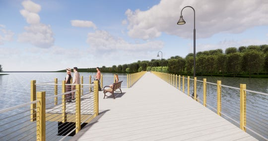 The 1,100-foot Fox River Boardwalk between Kaukauna and Little Chute will provide platforms for fishing and viewing wildlife.