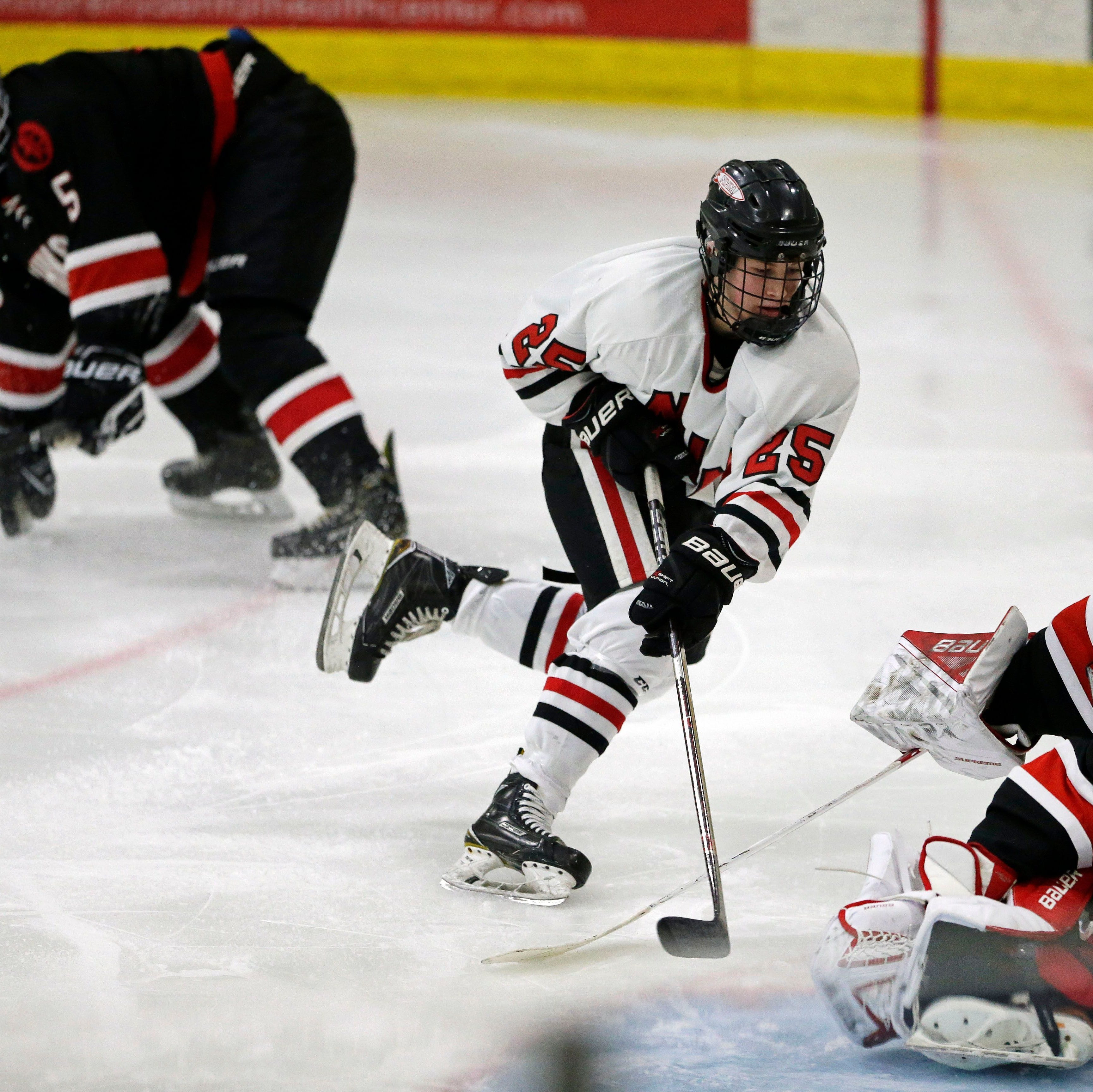 Rockets face defending champion Hudson in first trip to state hockey tournament