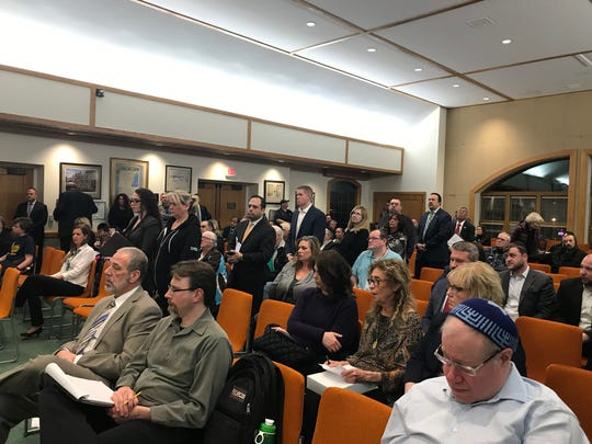 People line up to speak at Toms River Council meeting