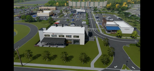 A rendering of the proposed Ocean Town Center on Deal Road in Ocean.