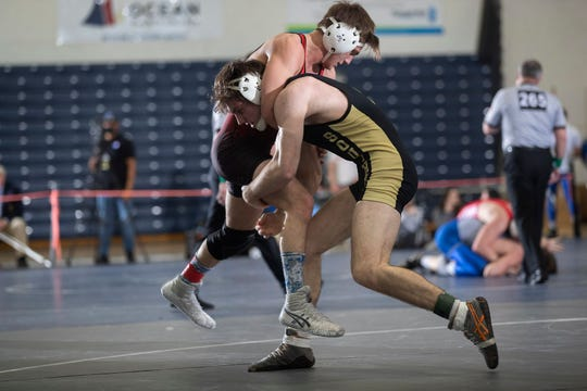 Southern's Nicholas O'Connell (right) is the No. 2 seed at 152 pounds in the NJSIAA Individual Championships this weekend