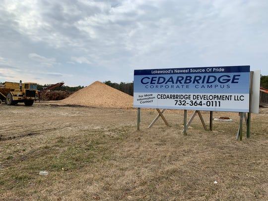 A sign for Cedarbridge Corporate Campus/
