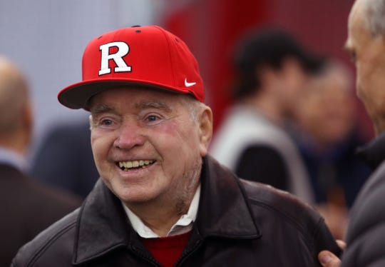 Rutgers legendary baseball head coach Fred Hill in attendance as Rutgers dedicated its new indoor baseball and softball practice facility called the Fred Hill Training Complex. January 31, 2017, Piscataway,, NJ.
