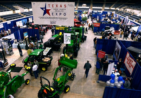 Attendees roam the Texas Farm-Ranch-Wildlife Expo in the Taylor County Coliseum Feb. 19, 2019.