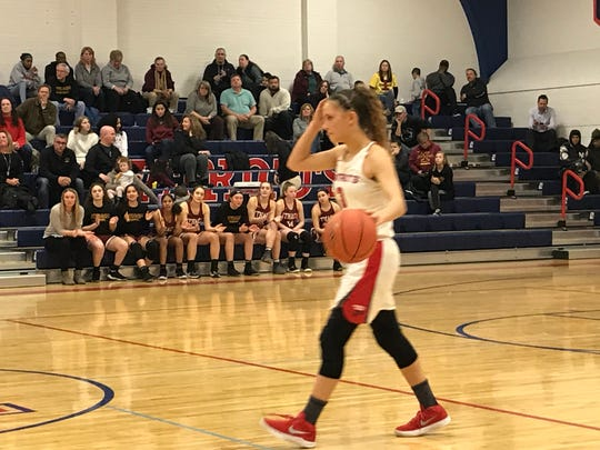 Binghamton High guard Lexi Gruss scored 13 points to lead the Patriots to a 37-35 victory over visiting Ithaca on Tuesday night.